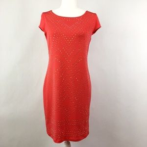 Thalia Sodi Coral Studded Dress Small